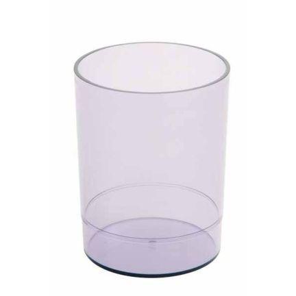 Офисная стакан-подставка для канц. принадлежностей ОФИС, тонир., прозрачная СН15 канцелярия стамм подставка стакан офис