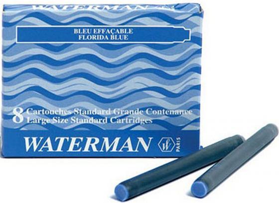 52002 Картридж с чернилами для перьевой ручки LONG, цвет синий, 8 шт. в картонной упаковке parker картридж с чернилами quink long для перьевой ручки цвет темно синий 5 шт