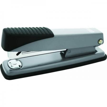 Степлер, скоба №24/6, на 20 листов, металлический корпус, серебристый степлер скоба 24 6 на 20 листов металлический корпус черный ims310 bk