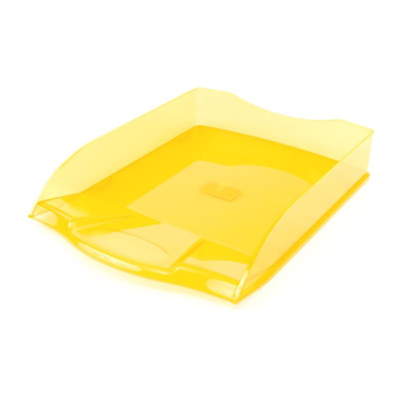 Лоток для бумаг горизонтальный ПРЕМИУМ, желтый english vocabulary in use elementary classware