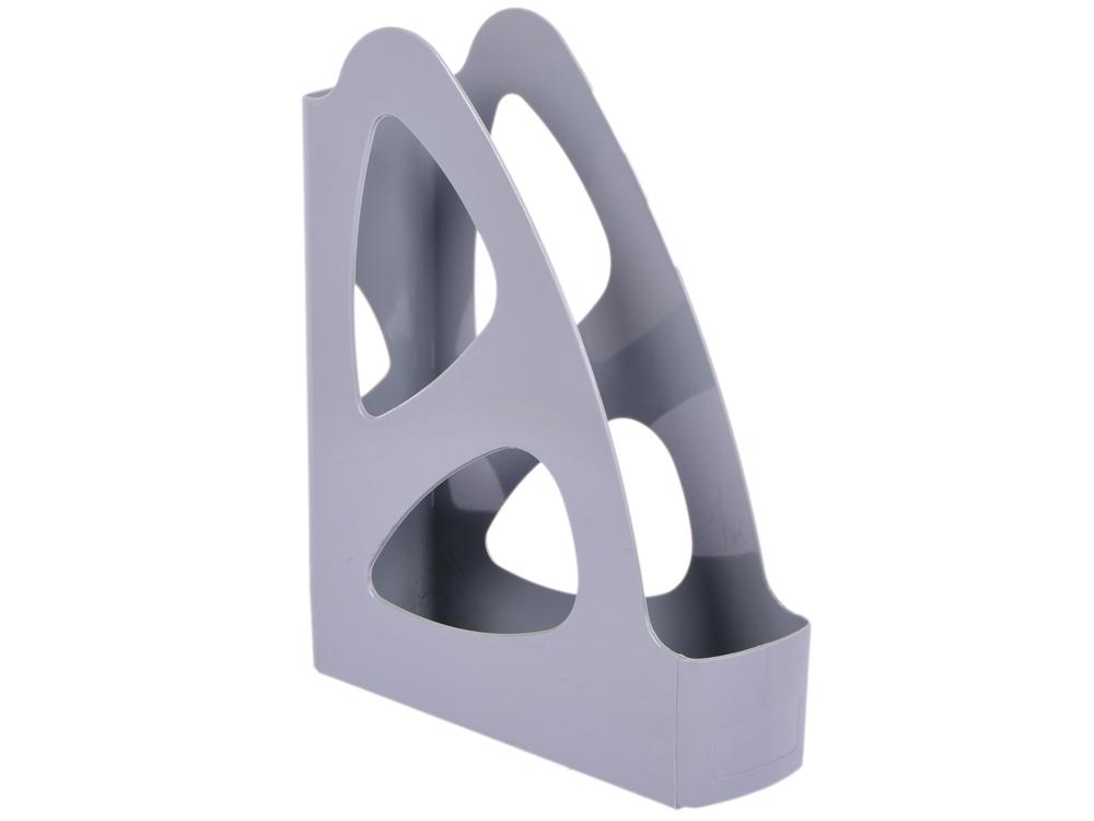 Лоток для бумаг ПАРУС, вертикальный, серый, 8 см. ЛТ131