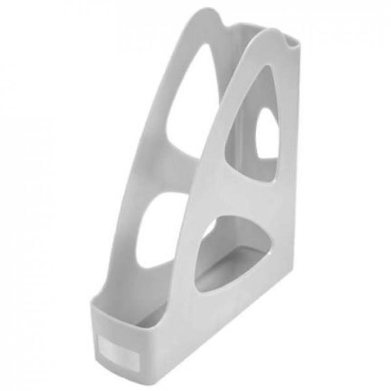 Лоток для бумаг ПАРУС, вертикальный, серый, 8 см. ЛТ131 прихожая парус