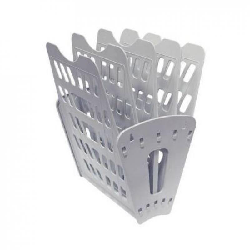 СТАММ / Лоток для бумаг, вертикально-горизонтальный, пятисекционный, серый Лт-90