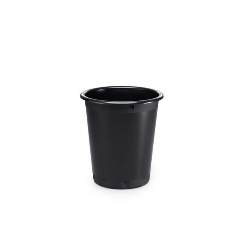 Корзина для мусора BASIC, 13 л, черная Количество в блоке:6 Количество в коробке:6 1701572-221 durable 6 100 290107