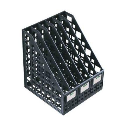 Лоток для бумаг, вертикальный, сборный, 6 отделений, черный ЛТ87 лоток для бумаг remember hexagon 25 5 31 5 6 3 см