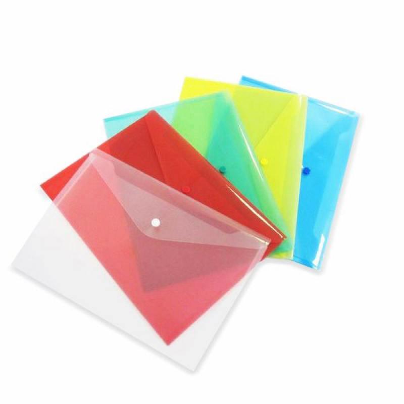 Папка-конверт с кнопкой, желтая, A4, 180мкм КНК 180-А/Ж папка 2 кольца желтая 180 листов 221795