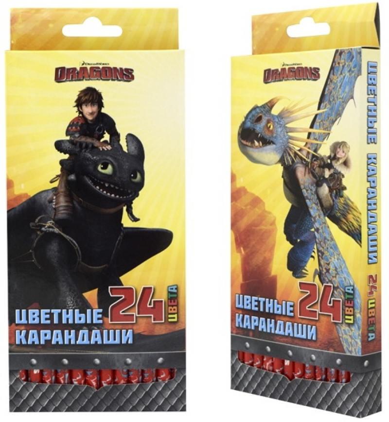 Набор цветных карандашей Action! Dragons 24 шт DR-ACP205-24 action цветные карандаши dragons 18 цветов dr acp205 18 голубой