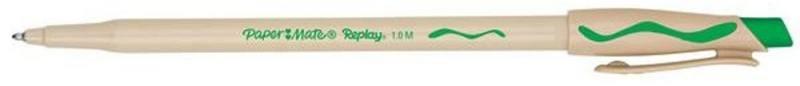 Ручка шариковая REPLAY со стираемыми чернилами, с ластиком, зеленая, 1,0 мм PM-S0183001