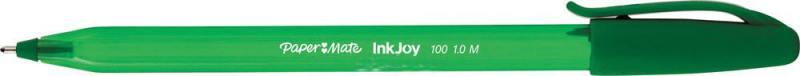Шариковая ручка Paper Mate INKJOY 100 зеленый 1 мм PM-S0977350 набор шариковых ручек paper mate inkjoy 100 5 шт разноцветный 1 мм 1842139 1842139