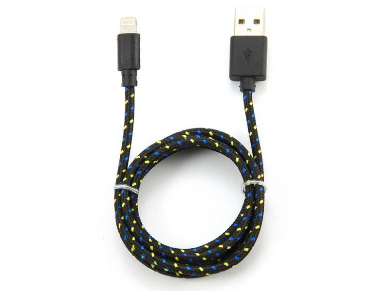 Кабель Konoos USB 1м для iPhone 5 iPhone 6 iPod iPad 8pin Lightning черный KC-A2USB2nbk от OLDI