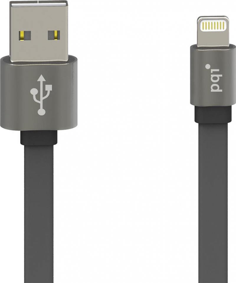 Кабель PQI i-Cable Metallic USB-Lightning серый 1м 6ZC190701R002A