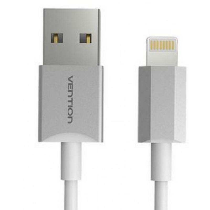 Кабель Vention USB 2.0 AM-Lightning 8M для iPad/iPhone 5/6 серебристый VAI-C02-W100
