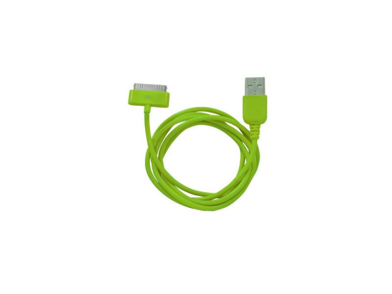 Кабель CBR Human Friends Super Link Rainbow C Green USB 1м для iPhone 3G 4 iPad 1 2 3 iPod 5 Lightni
