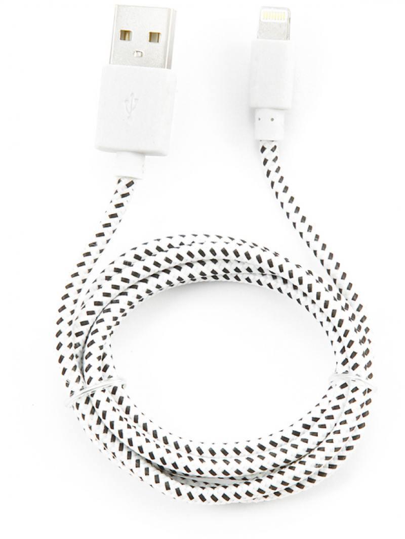 Кабель Konoos USB 1м для iPhone 5 iPhone 6 iPod iPad 8pin Lightning белый KC-A2USB2nw