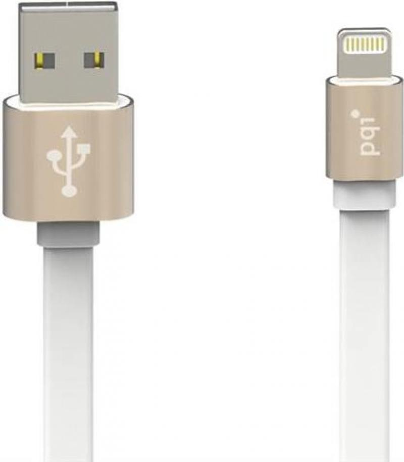 Кабель PQI i-Cable Metallic USB-Lightning золотистый 1м 6ZC190701R003A