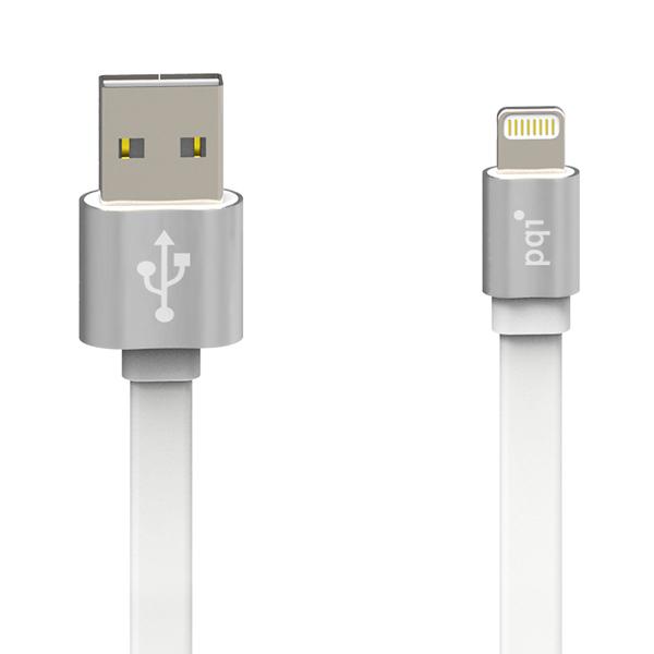 Кабель PQI USB-Lightning серебристый металлик 1м 6ZC190701R001A аксессуар pqi multi plug usb to lightning microusb 30 pin m 90cm for iphone ipad ipod orange pqi icable multiplug or