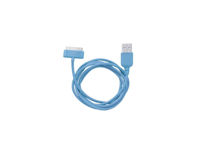 Кабель CBR Human Friends Super Link Rainbow C Blue USB 1м для iPhone 3G 4 iPad 1 2 3 iPod 5 Lightnin