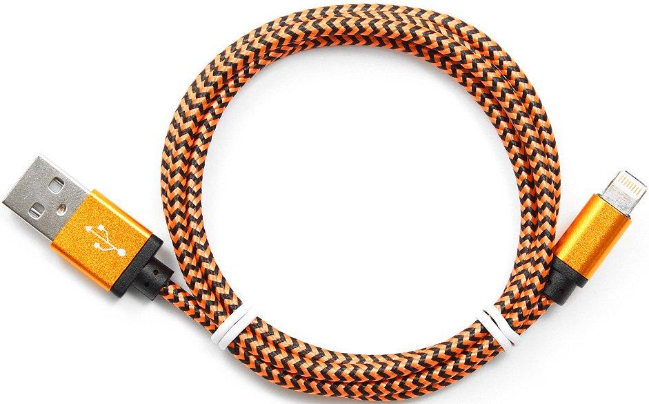 Кабель Gembird USB2.0 AM-Lightning 8P 1м CC-ApUSB2oe1m кабель usb 2 0 cablexpert am lightning 8p 1м розовый металлик
