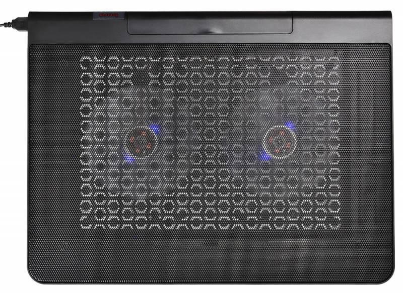 """Подставка для ноутбука 17"""" Buro BU-LCP170-B214 металл/пластик 1400об/мин 23db черный"""