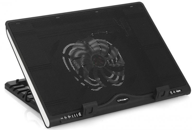 "Подставка для ноутбука 15.6"" Crown CMLS-925 270x370x55mm USB 780g черный"