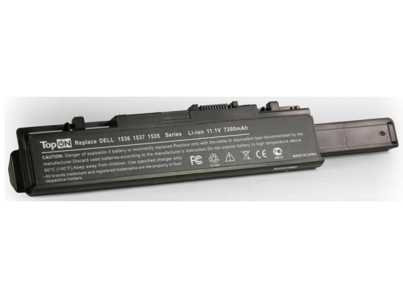 Аккумуляторная батарея TopON TOP-1535H 7200мАч для ноутбуков Dell Studio 1535 1536 1537 1555 1557 15