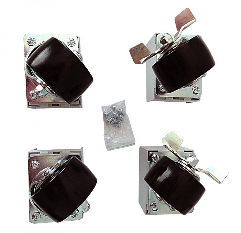 ЦМО Комплект грузоподъемных роликов 3*2 для шкафов 4 шт детский комплект из 3 эл тов защиты для роликов скейтборда или самоката basic