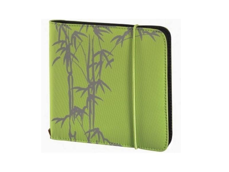 Портмоне HAMA Up to Fashion для 24 CD/DVD зеленый бамбук H-95668