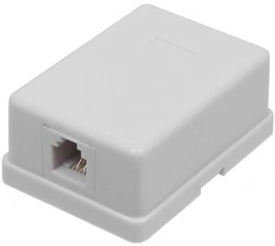Розетка ITK для RJ45 UTP кат.5е 1 выход белый CS2-1C5EU-12 разъем itk rj 45 utp для кабеля кат 5е 8p8c cs3 1c5eu