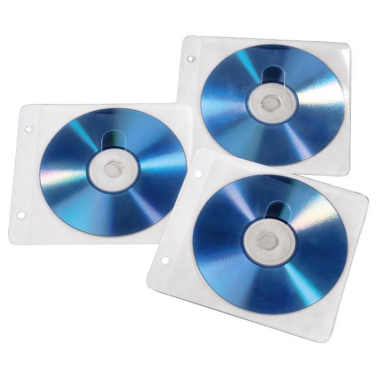 Конверты Hama для 2 CD/DVD с перфорацией для портмоне с кольцами белый/прозрачный 50шт H-84101 блокада 2 dvd