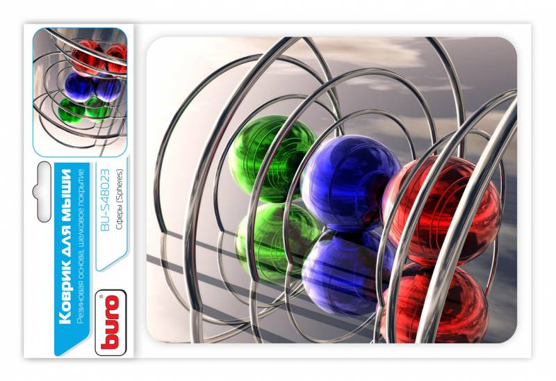 Коврик для мыши Buro BU-S48023, рисунок сферы коврик для мыши buro bu m80010 рисунок гонконг