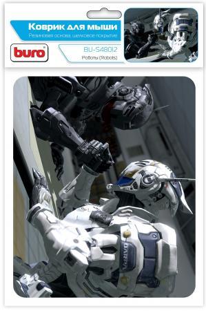 Коврик для мыши Buro BU-S48012, рисунок роботы коврик для мыши buro bu m80010 рисунок гонконг