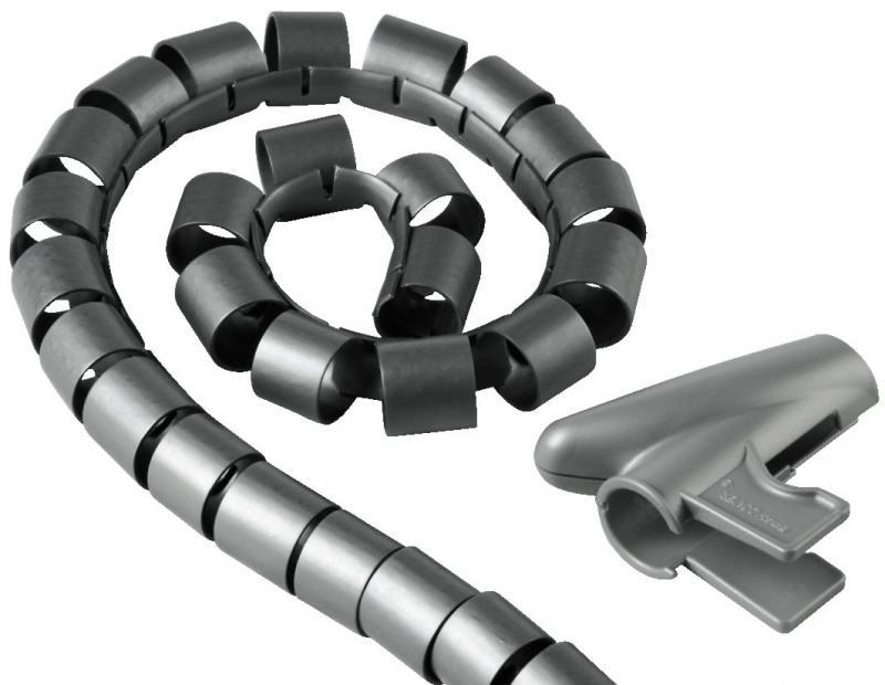 Кабель-органайзер Hama H-20601 30мм пластик серебристый 1.5м кабель органайзер hama h 20583 25мм пластик серый 2 0м