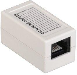 Адаптер проходной ITK CS70-1C5EU кат.5E UTP тип RJ45-RJ45 8P8C белый разъем itk rj 45 utp для кабеля кат 5е 8p8c cs3 1c5eu
