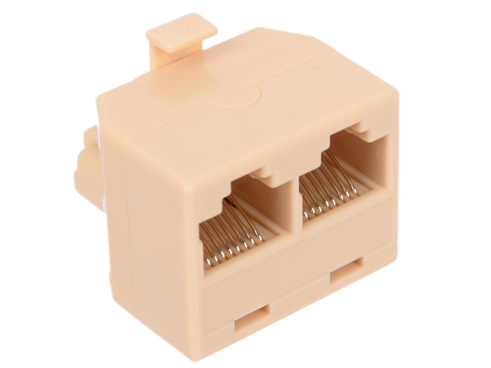 Адаптер проходной RJ-45 8P8C M/2F 5bites LY-US024 проходник 5bites ly us022 rj 45 8p8c f f