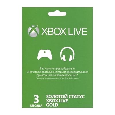 Карта подписки Microsoft Xbox Live на 3 месяца 52K-00271 xbox