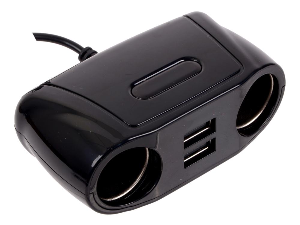 Разветвитель прикуривателя Wiiix TR-04U2 2xUSB выхода и 2 розетки разветвитель прикуривателя wiiix tr 01c 2 розетки