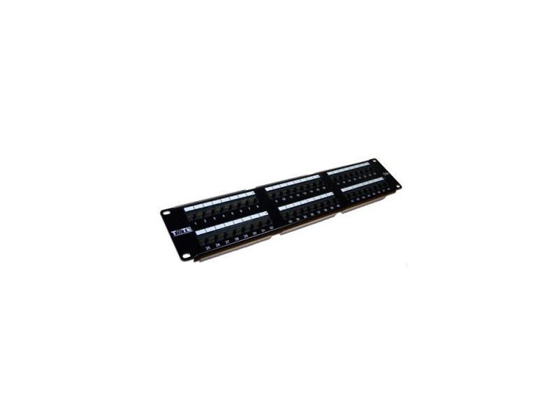 Патч-панель Lanmaster TWT-PP48UTP 48 портов UTP кат.5E 2U патч панель lanmaster twt pp24utp 19 1u