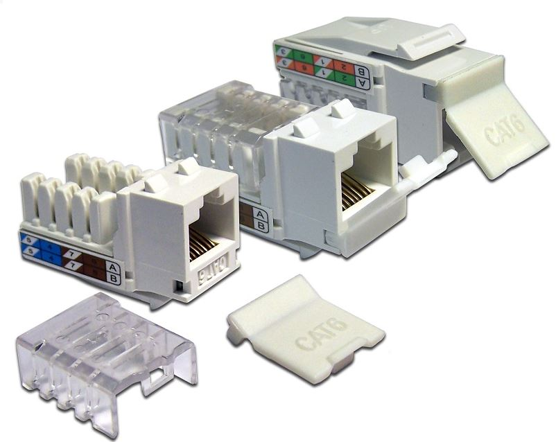 Модуль розетки Lanmaster RJ45 Keystone UTP Cat 5Е LAN-OK45U5E/90-WH cat6 180 degree angle rj45 ethernet keystone round jack coupler pack of 5