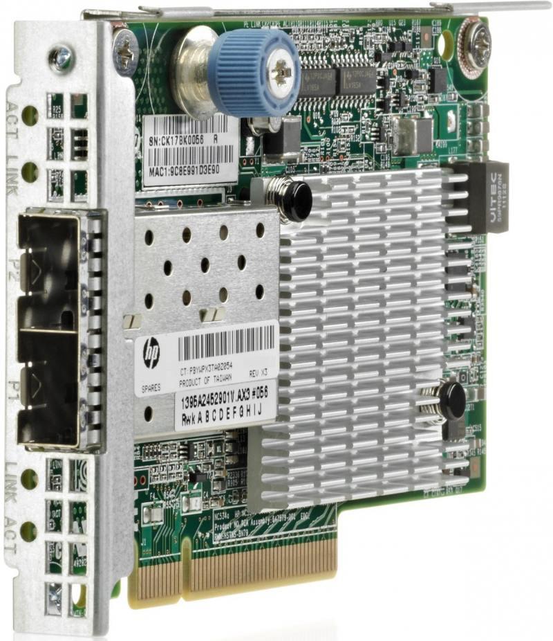 Адаптер HP 534FLR-SFP+ 10Gb 2P 700751-B21 адаптер dell x710 intel dual port 10gb sfp 540 bbiv
