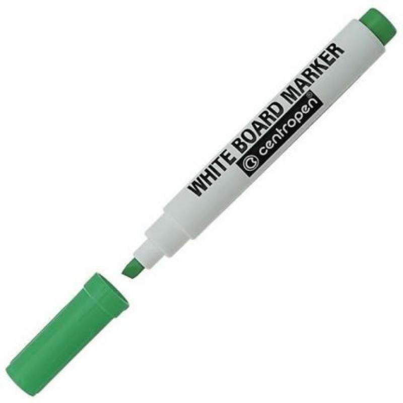 Маркер для доски Centropen 8569/1З 4.6 мм зеленый 8569/1З маркер для доски centropen клиновидный наконечник оранжевый 8569 1о