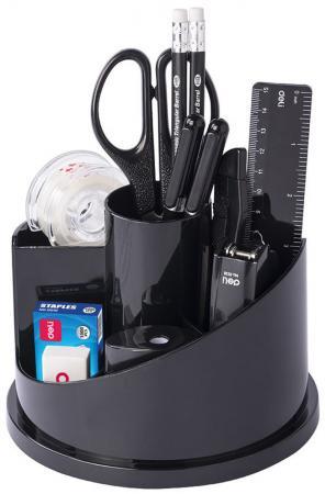 Настольный набор Deli 15 предметов пластик черный E38250A настольный набор deli 17 предметов черный e38251a