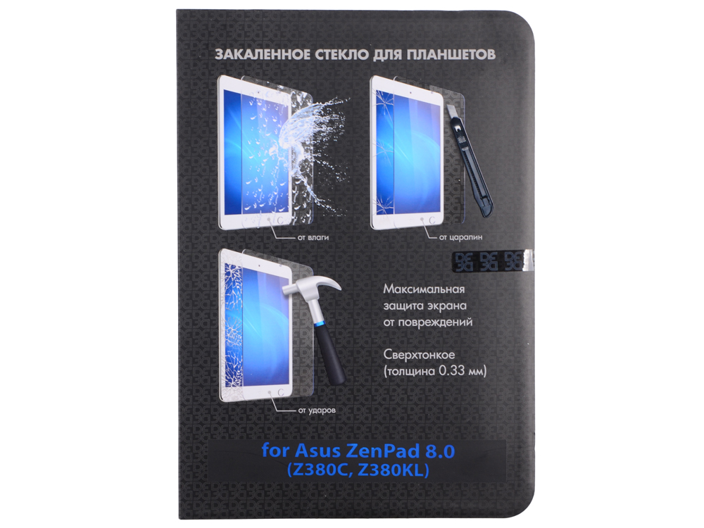 Закаленное стекло для Asus ZenPad 8.0 (Z380C, Z380KL) DF aSteel-14 защитное стекло df для asus zenfone zoom zx550 zx551ml asteel 23