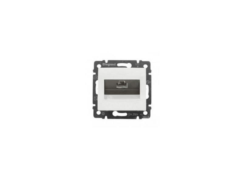 Розетка Legrand Valena для RJ45 UTP кат.5е безвинтовые зажимы 774230