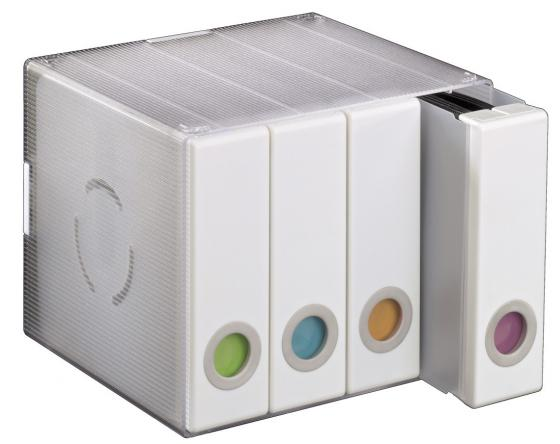 Коробка HAMA Album Box для 96 CD/DVD пластик прозрачный/белый H-96104 hama h 108759 для 37 70 белый