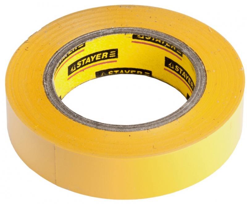 Изолента Stayer MASTER 15ммx10м желтый 12291-Y-15-10 бур stayer 29250 210 08