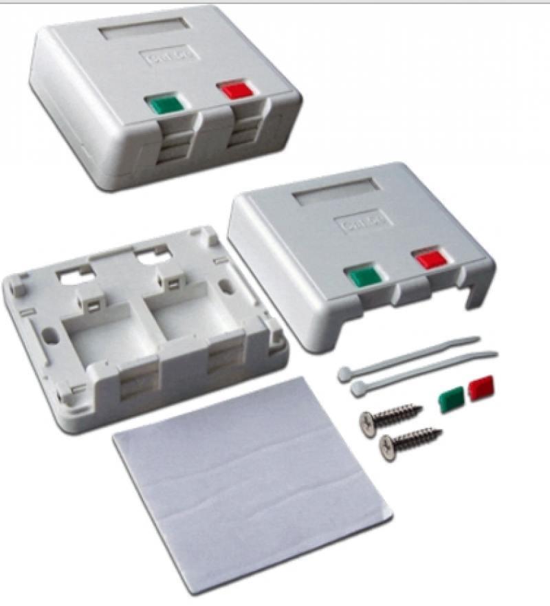 Коробка Lanmaster LAN-SA2/S-WH SA на 2 модуля keystone с защитными шторками коробка lanmaster lan sa1 s wh keystone rj45