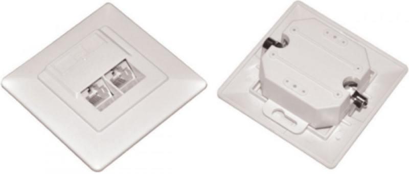 купить Розетка ITK RJ45 UTP кат.5е 2 порта белый CS2-1C5EU-21 онлайн