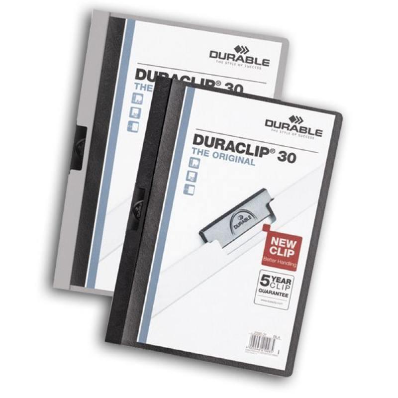 Папка DURACLIP ORIGINAL 30 с клипом, верхний лист прозрачный, синяя, на 30 листов demeter honeysuckle 30