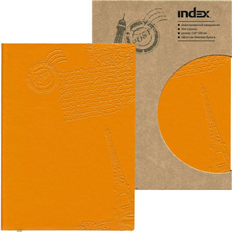 Ежедневник Paris, недатированный, интегральная обложка, А6, кожзам, оранжевый IDN111/A6/OR