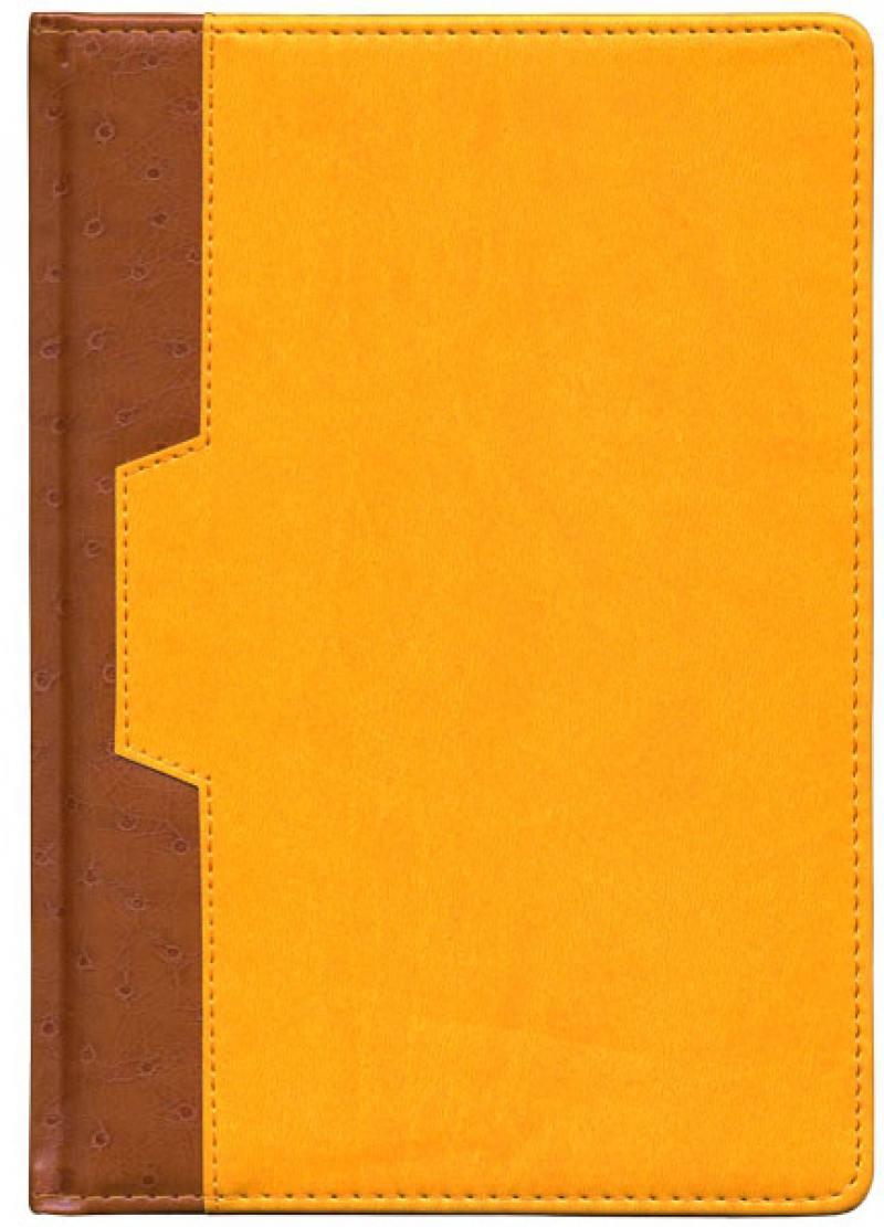 Ежедневник недатированный Index Desert A5 искусственная кожа IDN105/A5/YE